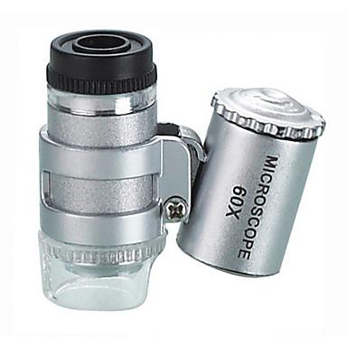 60X Mikroskop Leketøy Mini Høy kvalitet Multifunksjon Metall Kreativ Glamorøs & Dramatisk 1 Deler Barnas Dag Gave
