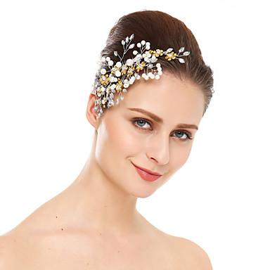 abordables Bijoux de Cheveux-cristal imitation perle strass cheveux peignes coiffe style élégant