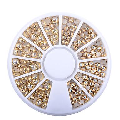 Rhinestone   Decorations · 1 box ab beige color metal edge glitter nail  beads studs diy beauty charm nail art 739acfe15d77