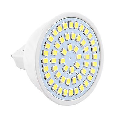 1pc 4W 450-500lm GU5.3(MR16) LED-spotpærer MR16 54 LED perler SMD 2835 Dekorativ Varm hvit Kjølig hvit