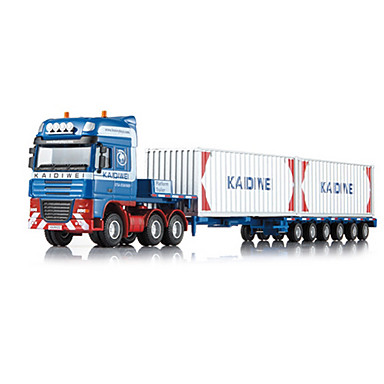 KDW شاحنة شاحنة الحاويات شاحنة بضائع لعبة الشاحنات ومركبات البناء لعبة سيارات 01:50 قابل للسحب المعدنية بلاستيك ABS 1 pcs للأطفال صبيان فتيات ألعاب هدية