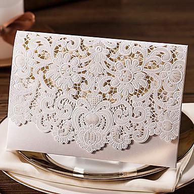 Hülle & Taschenformat Hochzeits-Einladungen 20 Print Kartonpapier Muster / Druck