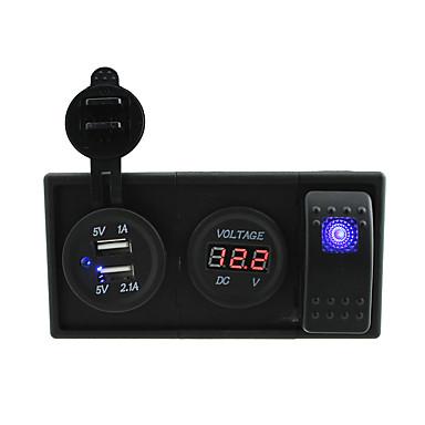 economico Ricambi per auto-Prese / 24v 3.1a Porta USB 12V DC e voltmetro con ponticelli interruttori a bilanciere e titolare abitazioni