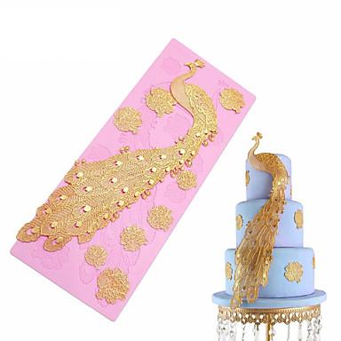أدوات خبز سيليكون غير لاصقة / عطلة / 3D كعكة حيوان الخبز العفن 1PC