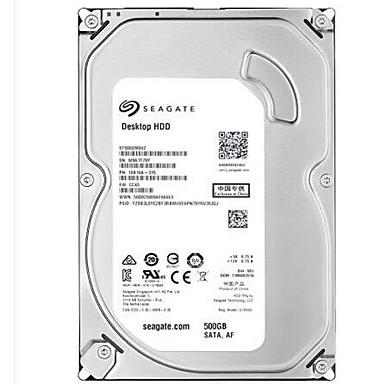 Seagate 500GB Desktop Hard Disk Drive 7200rpm SATA 3.0 (6 Gb / s) 16MB cache 3,5 tommer-ST500DM002