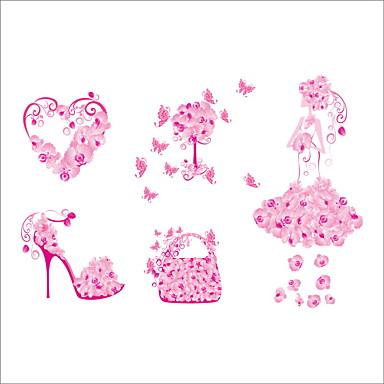 Dekorative Mur Klistermærker - Fly vægklistermærker Dyr Blomster Botanisk Stue Soverom Pigeværelse