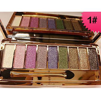 Makeup 9 farger Øyenskygger / Pleieutstyr / Pudder Voksen profesjonelt nivå Langtidsvarende Hverdagssminke / Halloweensminke / Festsminke Sminke kosmetisk / Glans