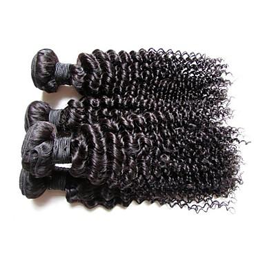 Cabello humano Extensión Natural Remy Rizado / Kinky Curly Cabello Brasileño 400 g Más de Un Año