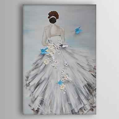 Pintura a Óleo Pintados à mão - Pessoas Modern Tela de pintura