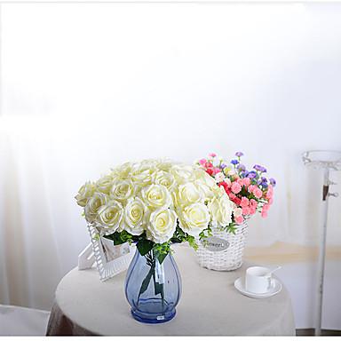 Kunstige blomster 1 Gren Enkel Stil Orkideer / Roser Bordblomst