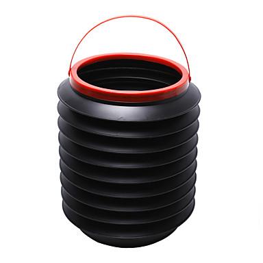 abordables Aspirador coche-cubos de basura coche mejor caja de almacenamiento bin barril plegable auto basura cubo de agua contenedor de regalo mágico viaje por