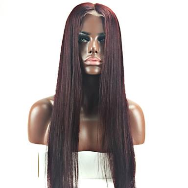 billige Blondeparykker med menneskehår-Remy Menneskehår Helblonde Parykk stil Brasiliansk hår Rett Parykk 130% Hair Tetthet med baby hår Ombre-hår Naturlig hårlinje Afroamerikansk parykk 100 % håndknyttet Dame Kort Medium Lengde Lang