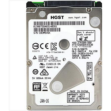 HGST Laptop / Notebook disco rígido 500GB HTS725050A7E630