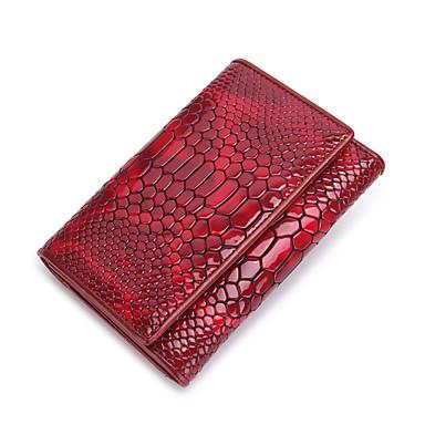 Mujer Bolsos Cuero Patentado Billeteras / Triple Pliegue para Evento / Fiesta / Oficina y carrera Negro / Rojo