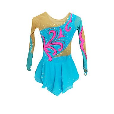 Vestido de Patinaje Sobre Hielo Mujer Niños Mangas largas Patinaje Vestidos y faldas Vestidos Eslático Alta elasticidadFigura vestido de