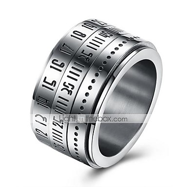Men's Band Ring Nail Finger Ring Knuckle Ring - Stainless Steel Personalized, Fashion 7 / 8 / 9 / 10 Silver For Daily Casual