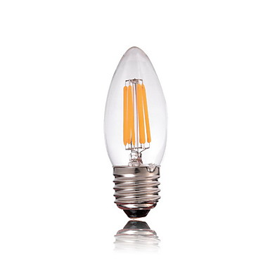 E27 2w 150-200lm 3000-3500k led volfrámmag meleg fényű gyertyafény (ac 220-240v)