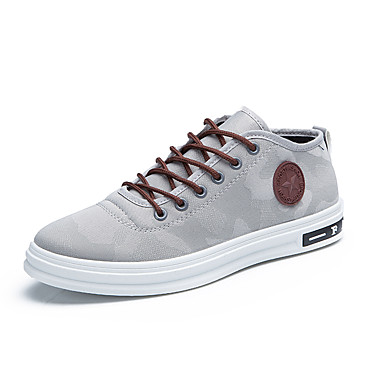 Men's Shoes Canvas Spring / Fall Comfort / Driving Shoes Sneakers Gray / Red / Blue