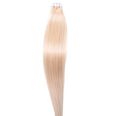evet 헤어 제품 브라질 머리 부드러운 직선 머리 우레탄 테이프 인간의 머리카락 확장 6A 등급 100g