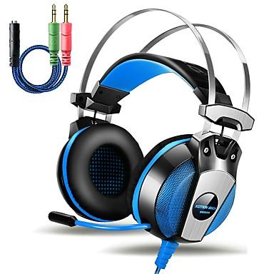 KOTION EACH GS500 Sobre o ouvido / Bandana Com Fio Fones Piezoeletricidade Plástico Games Fone de ouvido Com controle de volume / Com