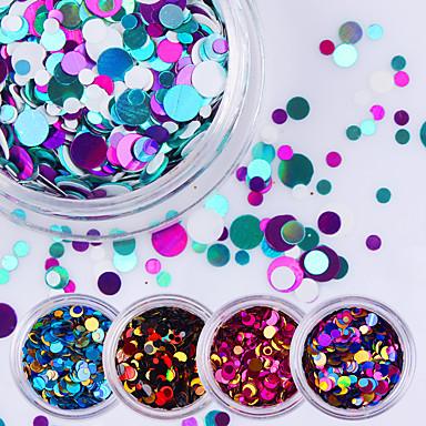 12pcs Glitter & Poudre Paljetter Glitters Mote Høy kvalitet Daglig