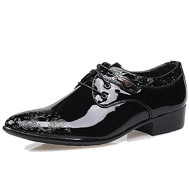 Men's Formal Shoes Patent Leather Fall / Winter Oxfords Black / Party & Evening / Printed Oxfords / Dress Shoes