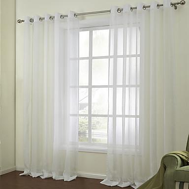 Schlaufen für Gardinenstange Ösen Schlaufen Zweifach gefaltet zwei Panele Window Treatment Modern, Jacquard Solide Schlafzimmer
