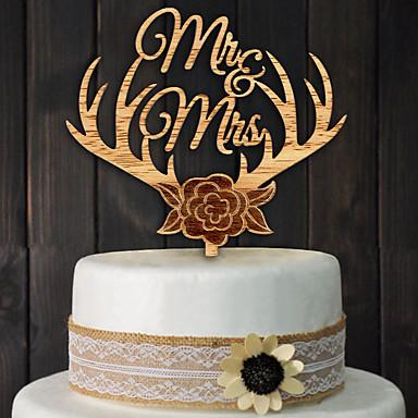 Acessório para Bolo Madeira Decorações do casamento Casamento / Festa / Noivado Tema Clássico Primavera / Verão / Outono