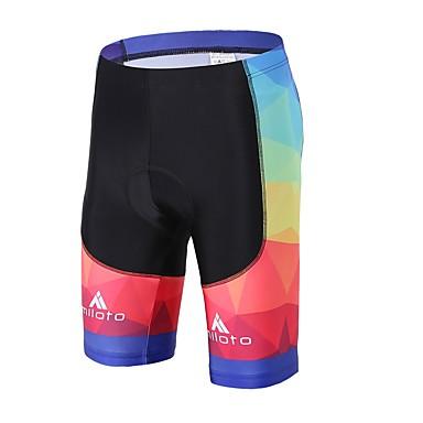 Miloto Unisexo Bermudas Acolchoadas Para Ciclismo Moto Shorts Acolchoados / Calças Tapete 3D, Compressão, Reduz a Irritação Elastano,