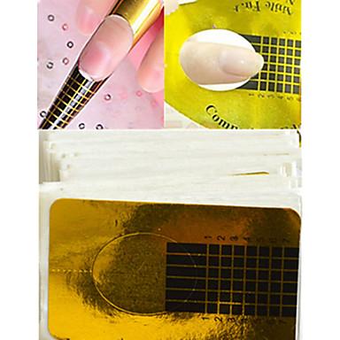 1conjunto / 100pcs arte de unha Etiquetas de unhas 3D / Limpeza / Ferramentas de Limpeza Clássico Proteção contra Sobrecarga / Proteção