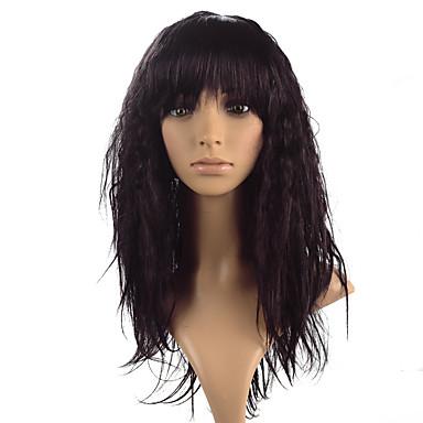 Syntetiske parykker Kinky Curly tetthet Lokkløs Dame Rød Karneval Parykk Halloween parykk Naturlig parykk Lang Syntetisk hår
