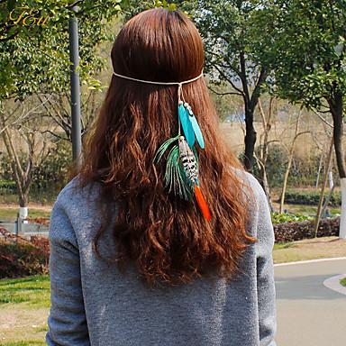 abordables Coiffes-Plume Bandeaux / Fleurs / Pince à cheveux avec 1 Mariage / Occasion spéciale / Décontracté Casque / Attache-cheveux