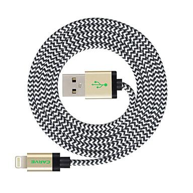 Belysning USB-kabeladapter Ladingskabel Fletted ladingskabel Data og synkronisering Ledning Flettet Kabel Til iPad Apple iPhone 300 cm