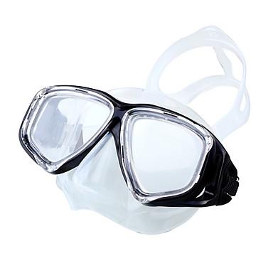Máscara de Snorkel / Máscara de Mergulho Anti-Nevoeiro, 180 Graus, Ajustável Visor Duplo - Natação, Mergulho Silicone, Vidro Temperado - para Adulto Amarelo / Azul / Rosa claro