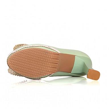 Talon Chaussures Chaussures Polyuréthane rond Confort Marche Printemps 05602081 Talons à Nouveauté Eté Noeud Bout Femme Similicuir Bottier wT0dF6Pq0x