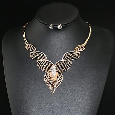 Damen Strass / Diamantimitate Niedlich Herz Schmuck-Set Ohrringe / Halsketten - Personalisiert / Party / Büro Golden Schmuckset /