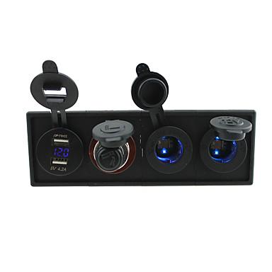 12v / 24v 3.1a USB portcigarette toma del encendedor socketpower y un voltímetro con el panel titular de la vivienda para rv del carro del