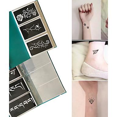 Stencils para Tatuagem com Purpurina-other-Tatuagem com Gliter-não tóxica Estampado- paraAdulto- dePapel-Preta