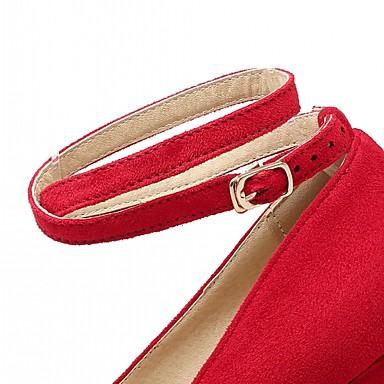 Femme Printemps Nouveauté Polyuréthane Similicuir Chaussures Bottier Confort à Chaussures Bout 05602193 Talons Block Heel Eté Talon Marche rond prwBUpqx