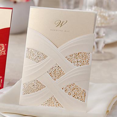 billige Bryllupsinvitasjoner-Sjal & Lomme Bryllupsinvitasjoner Andre / Invitasjonskort Klassisk Materiale / Kort Papir Blomst