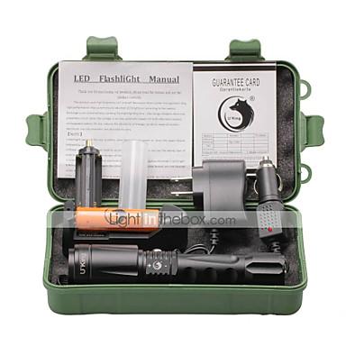 U'King Linternas LED LED 2000 lm 4.0 Modo LED con pila y cargadores Zoomable Enfoque Ajustable Camping/Senderismo/Cuevas De Uso Diario Al