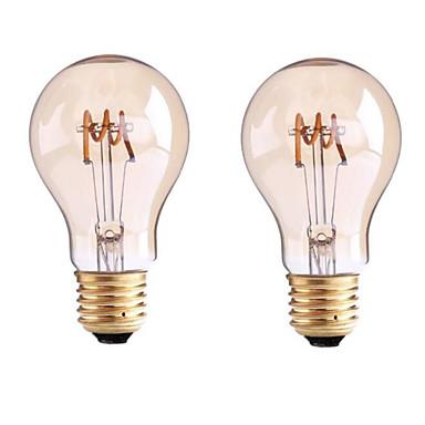 1pc 3.5 W 400 lm B22 / E26 / E27 LED-glødepærer G60 1 LED perler COB Mulighet for demping Varm hvit 220-240 V / 110-130 V / 2 stk. / RoHs