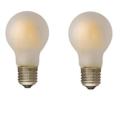 ONDENN 2pcs 4W 400lm E26 / E27 B22 LED-glødepærer G60 4 LED perler COB Mulighet for demping Varm hvit 110-130V 220-240V
