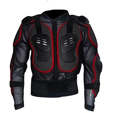 Unisex Manga Larga Chaqueta de Ciclismo - Negro Negro / Rojo Bicicleta Camiseta / Maillot Top, Diseño Anatómico, Invierno, Nailon PVC
