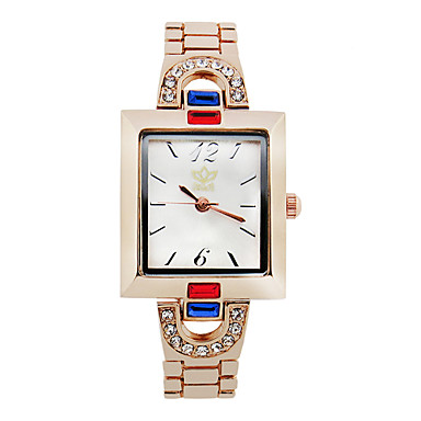 cheap Women's Watches-Women's Fashion Watch Simulated Diamond Watch Quartz Rose Gold Plated Alloy Band Rose Gold