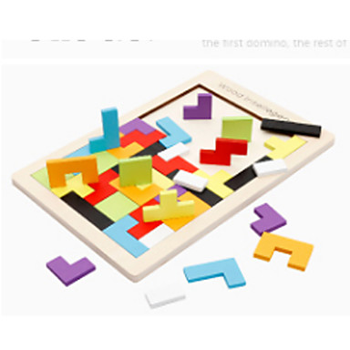 voordelige Rekenspeelgoed-Montessori lesmateriaal Tetris Bouwblokken Houten puzzels 1 pcs Noviteit Onderwijs Jongens Meisjes Speeltjes Geschenk