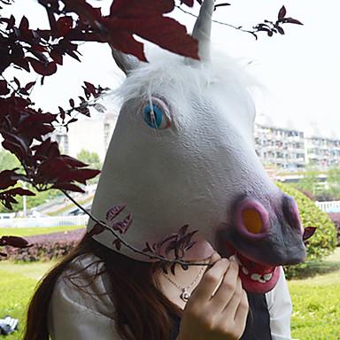 voordelige Maskers voor de feestdagen-Halloweenmaskers Dierenmasker polykarbonaatti Latex Kumi eenhoorn Horrorthema Volwassenen Jongens Meisjes