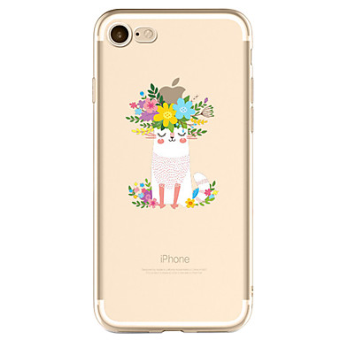 Funda Para Apple iPhone X / iPhone 8 Plus / iPhone 7 Diseños Funda Trasera Logo Playing With Apple Suave TPU para iPhone X / iPhone 8 Plus / iPhone 8