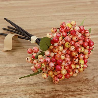 Flores artificiais 5 Ramo Pastoril Estilo Plantas Flor de Mesa