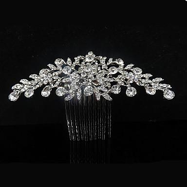 حجر الراين تيجان / فرش تمشيط للشعر مع 1 زفاف / مناسبة خاصة / فضفاض خوذة